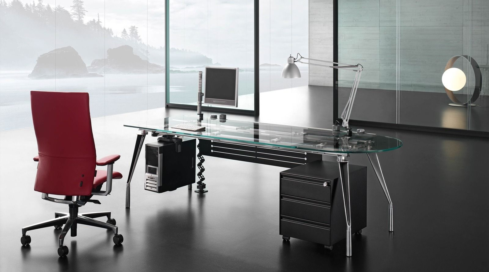 Contemporary Glass Office Furniture Hypnofitmaui Com
