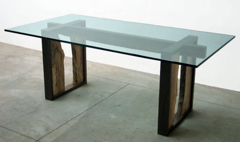 Contemporary glass dining table - 01271 - JOHN HOUSHMAND