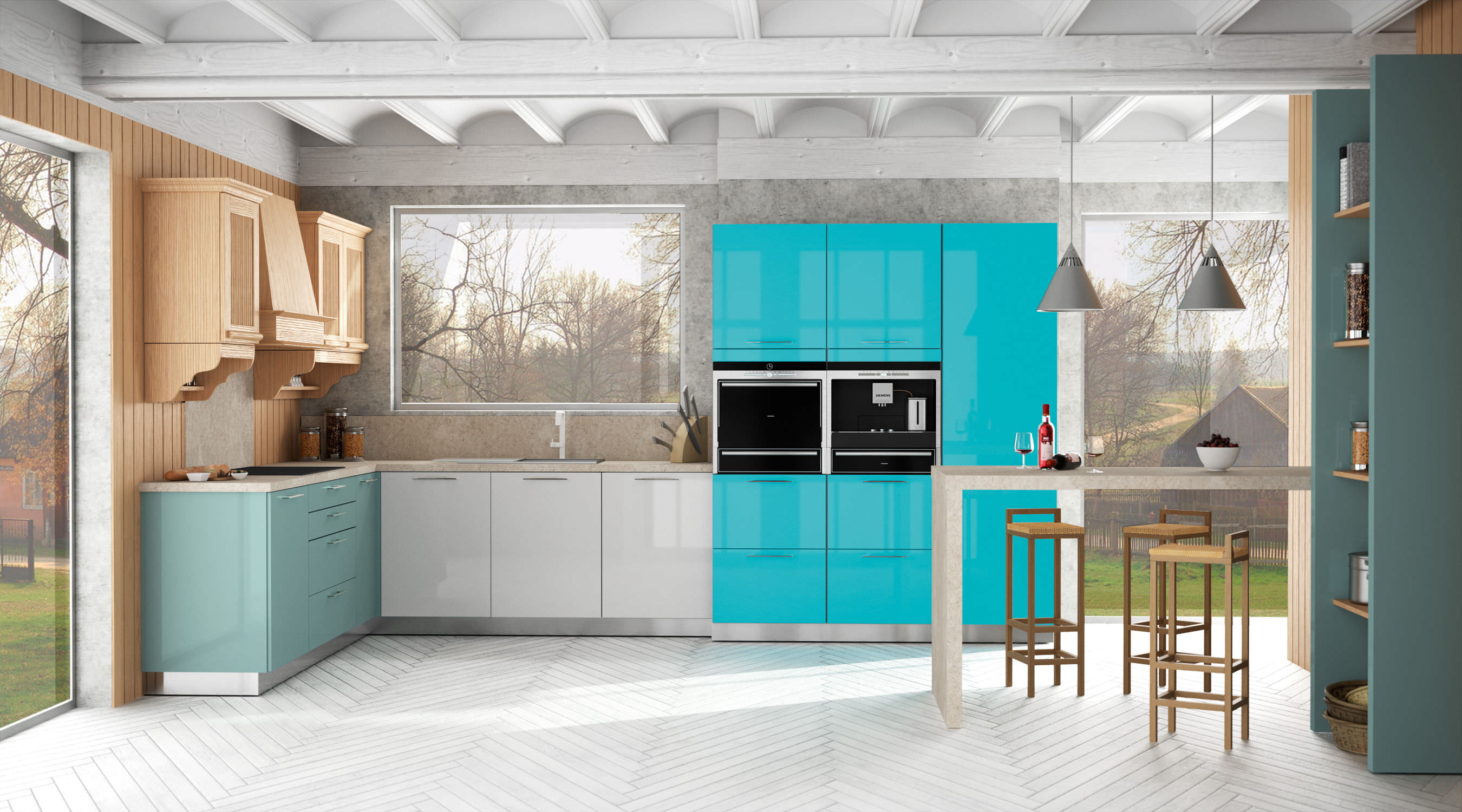 Blue Lacquer Kitchen Cabinets. Top Blue Lacquer Kitchen Cabinets New ...
