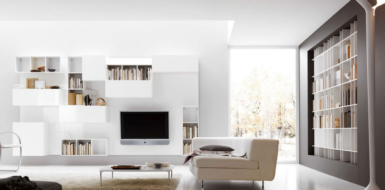 Contemporary lacquered TV wall unit - G026 - NOVAMOBILI