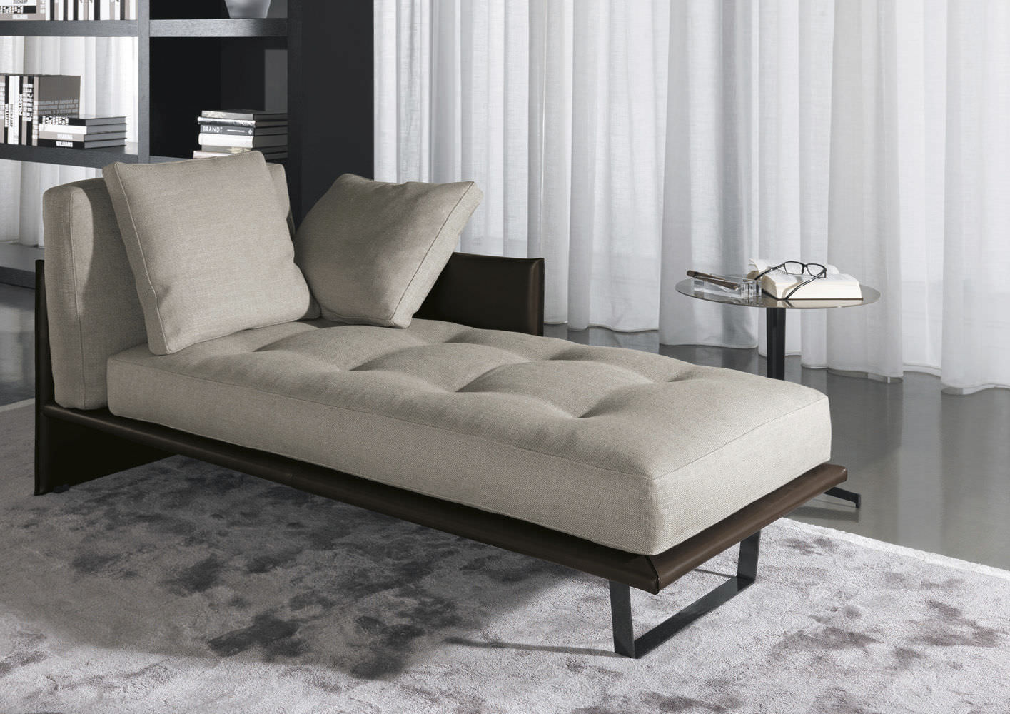 Contemporary leather daybed by Rodolfo Dordoni - LUGGAGE - Minotti