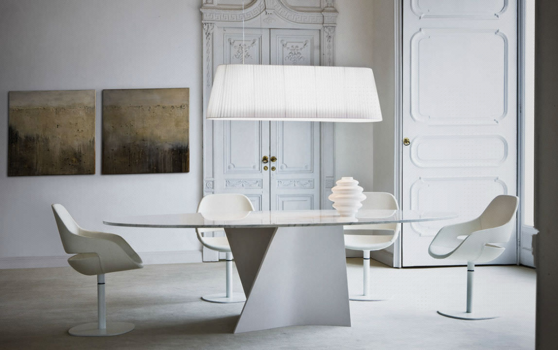 Contemporary marble table - ELICA 2575 by Prospero Rasulo - Zanotta