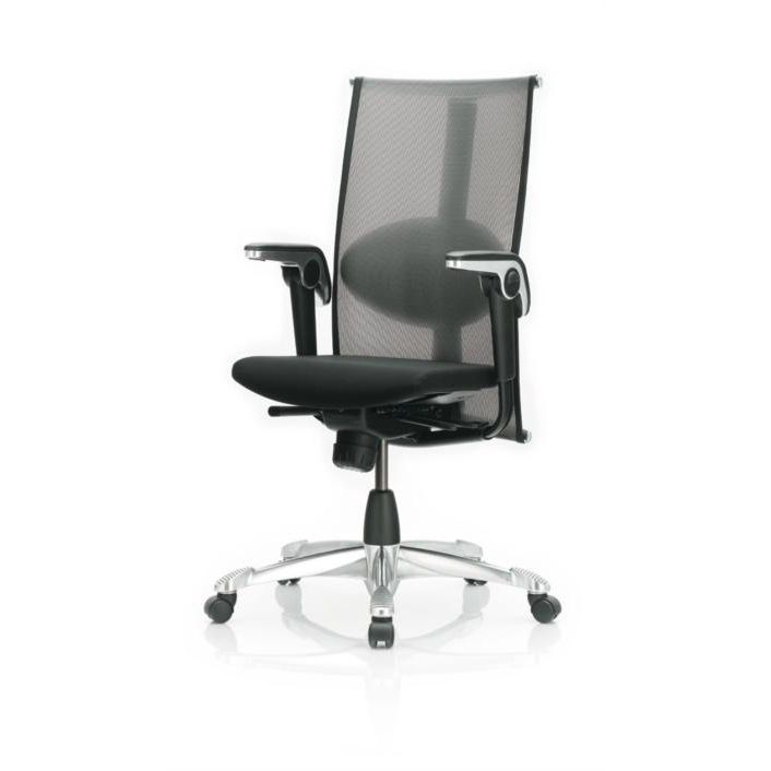 Contemporary mesh office chair with armrests - H09 INSPIRATION