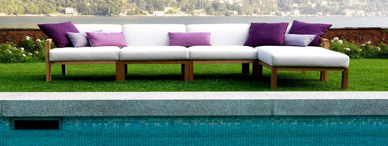 Contemporary modular garden sofa - OKAPI by Giovanni Crosera ...