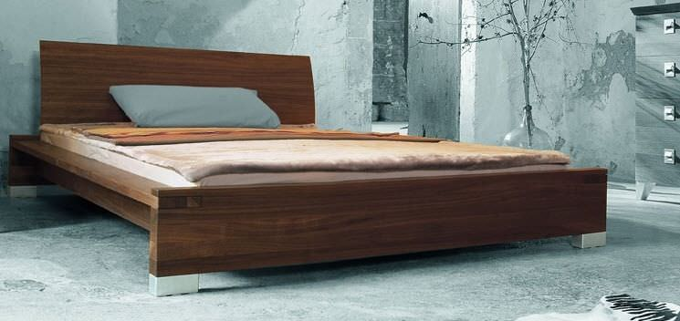 Contemporary solid wood double bed - SONLADO - ZACK-