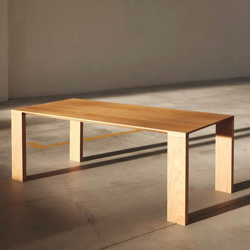 Contemporary solid wood table - RADIUS - BENSEN