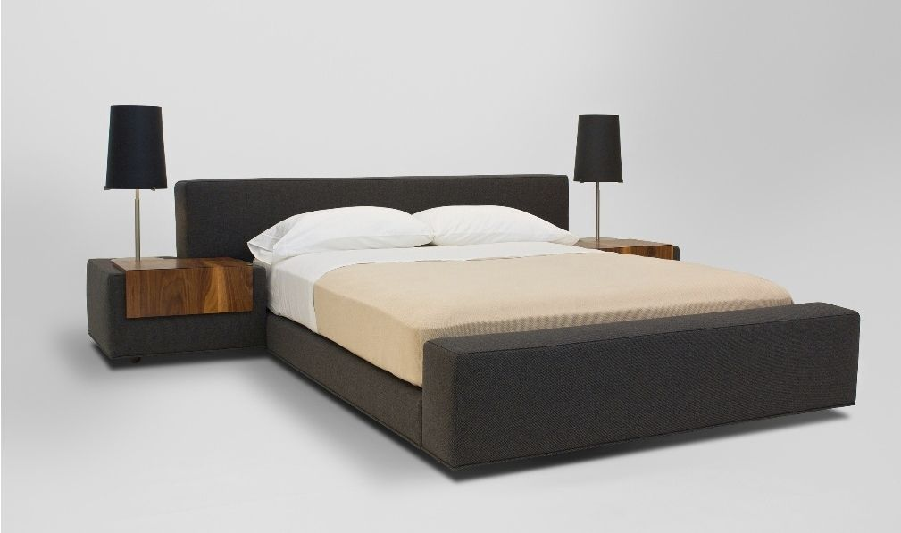 Contemporary upholstered double bed - ZURICH - VIOSKI
