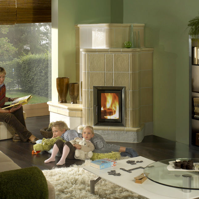 Contemporary wood-burning stove (ceramic) - HKD 5.1 - BRUNNER