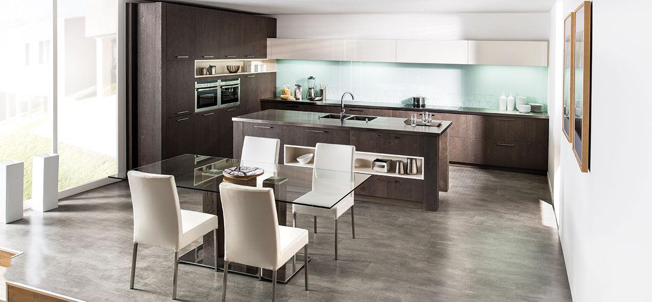 Cucina Moderna Con Isola E Tavolo WX48 ~ Pineglen