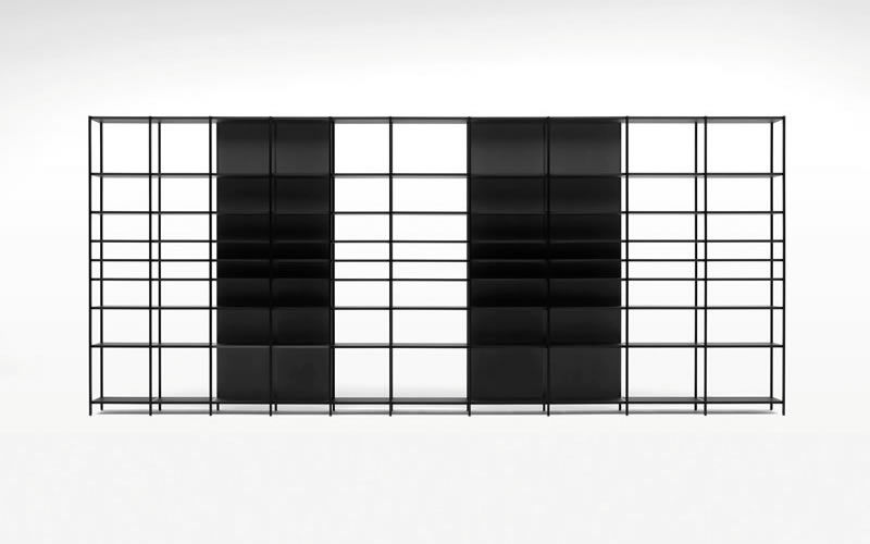 Contemporary wooden modular shelf - MATRIX by Shigeru Uchida - pastoe