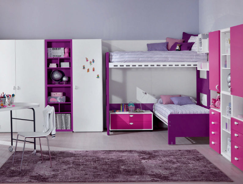 Corner bunk bed / girl's / for kids - ATLANTIS : OVEST - Di Liddo ...