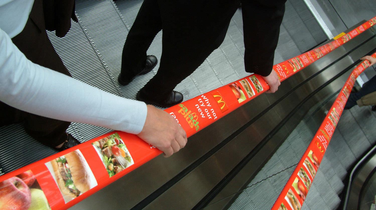 Escalator handrail / advertising - ADRAIL™ - EHC Global - Videos