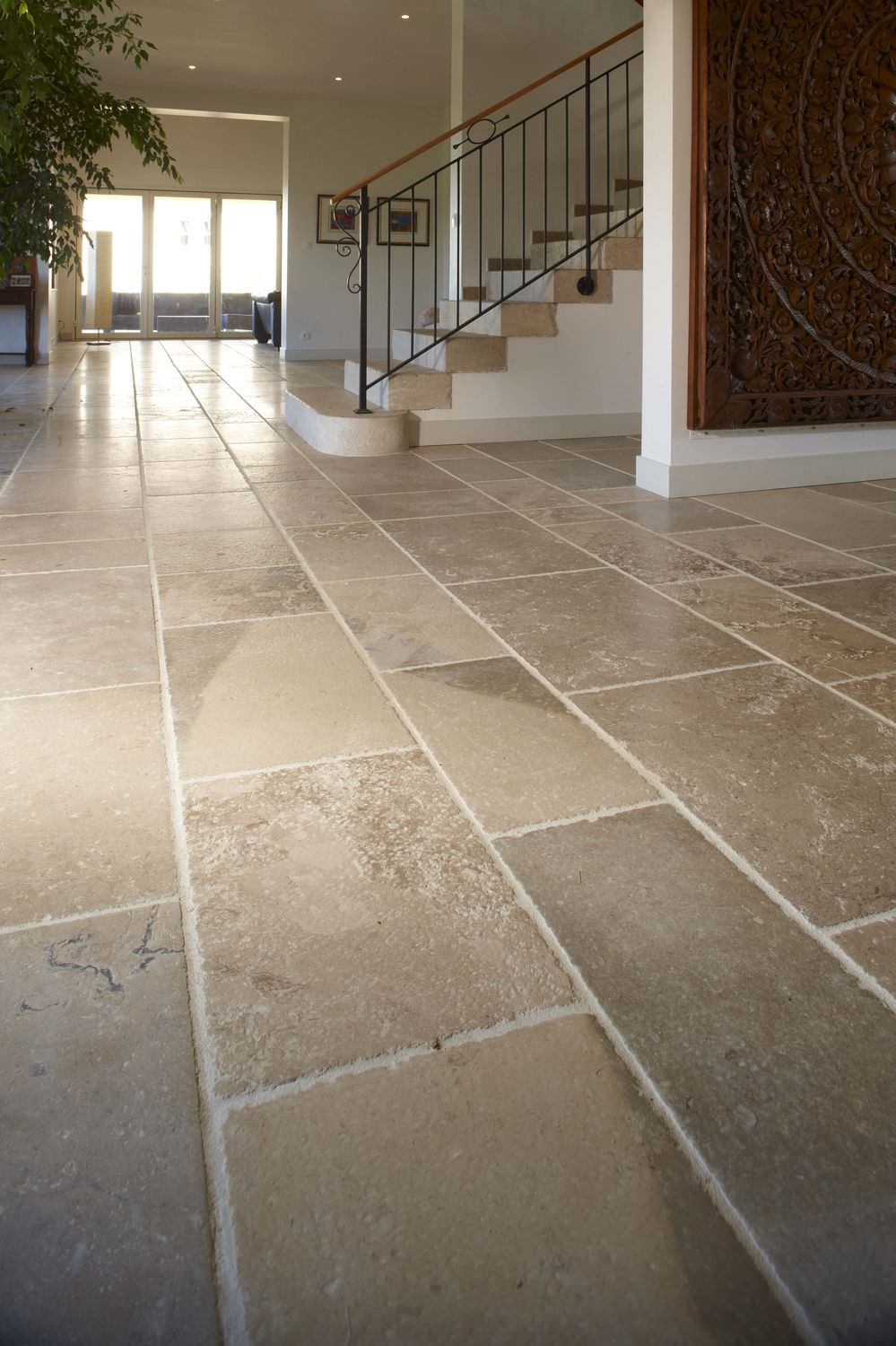 Natural stone tile shower images natural stone look floor tile dailygadgetfo Image collections