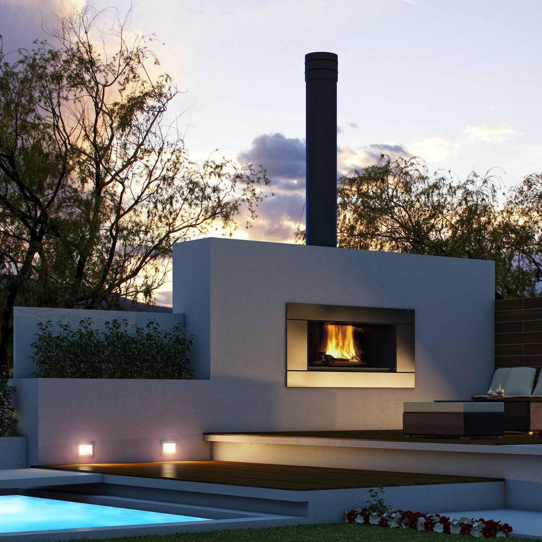 Garden open fireplace - EW5000 - Escea Ltd - Videos