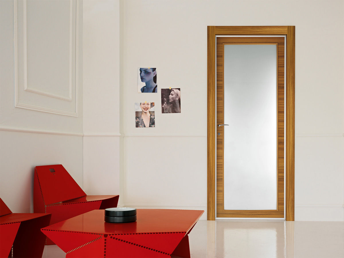 Glazed wooden swing door - LIBERA : LUX - DOOR 2000