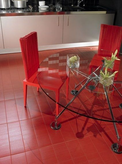 Kitchen ceramic tile - ADVANCE: FLOOR ROJO - VALENTINA CERAMICA