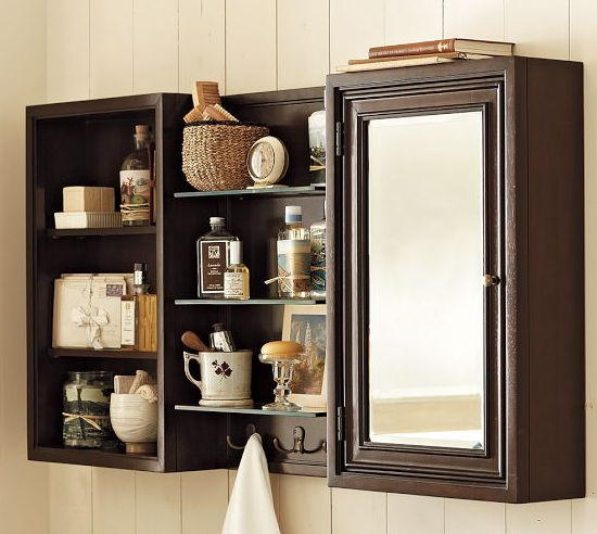 mirrored bathroom wall cabinet mirrored bathroom wall cabinet modular potterybarn