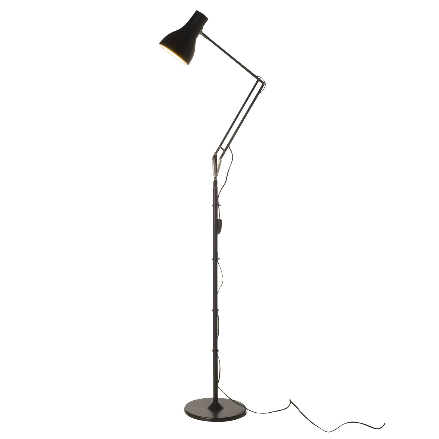 Original design aluminum floor lamp (swing arm) - TYPE 75 - Anglepoise