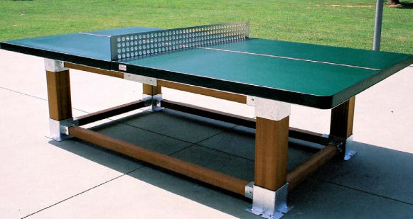 an ed massey design ping pong table for portraits of hope. outdoor