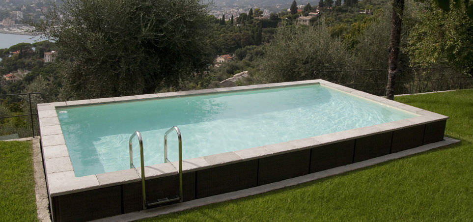 Semi Inground Swimming Pool Designs semi inground pool deck ideas Image From Httpsthouzzcomsimgsc291926902e55230_4 0502home Designjpg Semi Inground Pool Design Pinterest