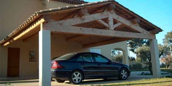 Solid wooden truss / for carports - GIPEN