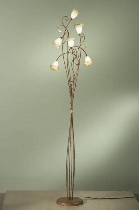 Traditional bronze floor lamp - PIERO: 028/6T - arte luce