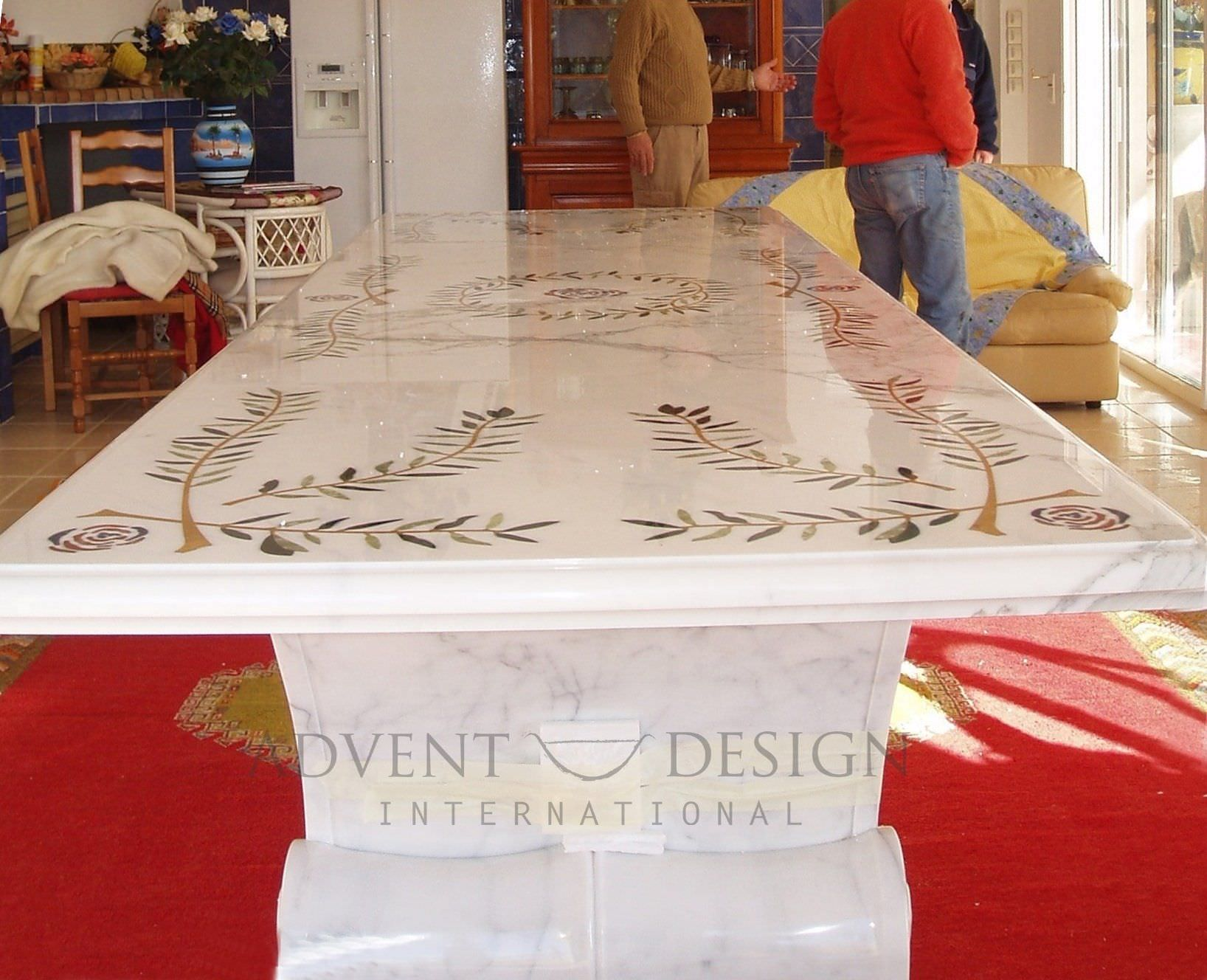 Traditional marble table - Stone Table - Advent Design International