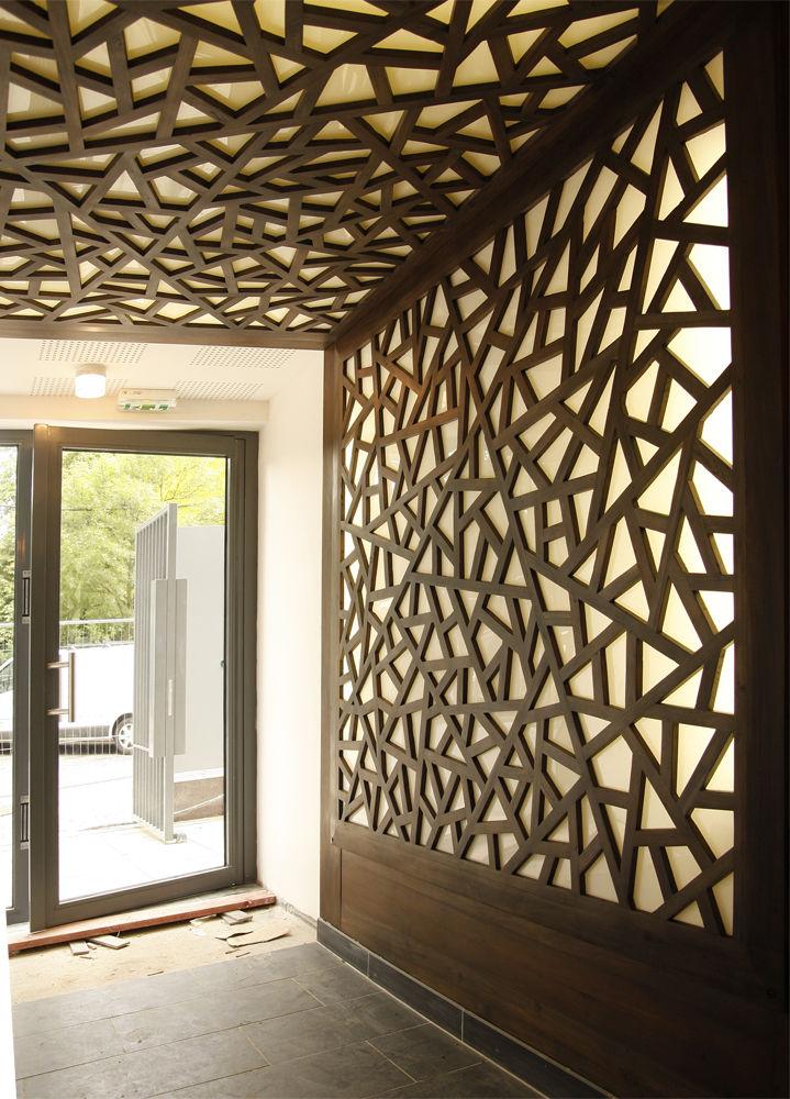 Wall-mounted decorative panel / wood / 3-D - FRM CHI PAN - MATAHATI