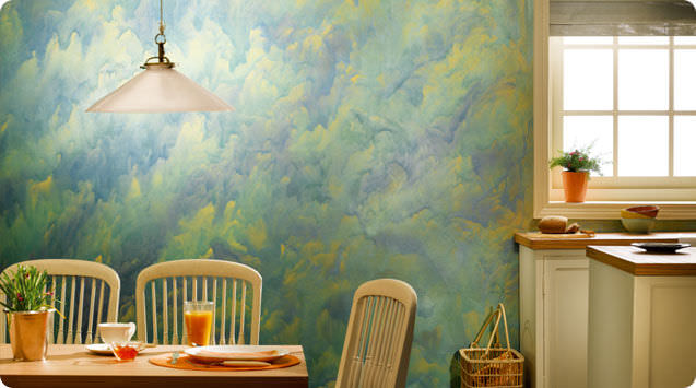 Wall paint / metallic effect - ROYALE PLAY CANVAS - ASIAN PAINTS