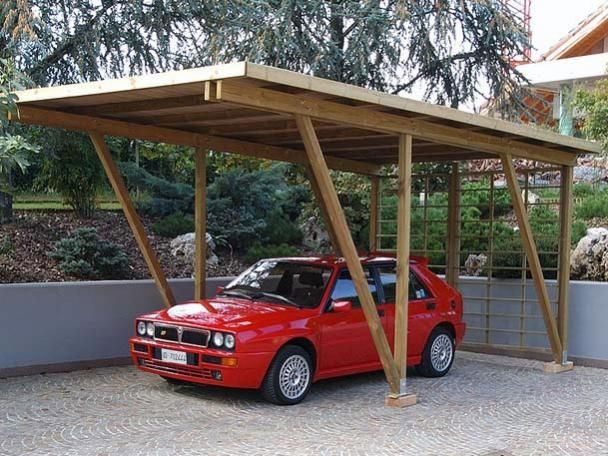 Wooden carport - 095030 - LEGNOLANDIA - Wood Carports Photos
