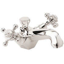 1 hole washbasin double handle mixer tap ART DECO MARGOT