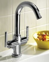 1 hole washbasin double handle mixer tap LOFT-ELITE ROCA