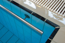 Stainless steel handrail / for swimming pools