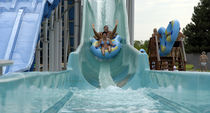 Upright slide / for water parks / rafting