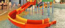 Curved slide / for aquatic parks
