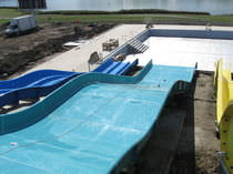 Upright slide / for aquatic parks / multiple