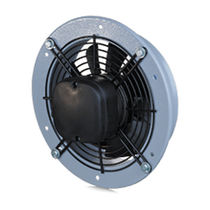 Axial fan / wall-mounted / industrial / steel