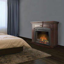 Electric fireplace / traditional / closed hearth / free-standing
