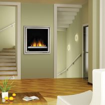 Electrical closed hearth / 1-sided / metal / for fireplaces