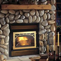 Wood closed hearth / 1-sided / metal / for fireplaces