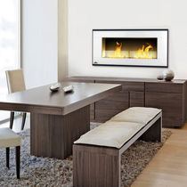 Bioethanol fireplace / contemporary / closed hearth / built-in