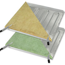 Metal suspended ceiling / tile / radiant / with integrated heater