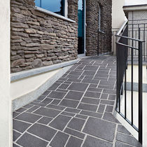 Stamped concrete floor covering / commercial / textured / paver effect