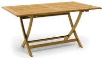 Traditional table / wooden / rectangular / garden
