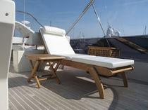 Traditional sun lounger / wooden / garden / folding