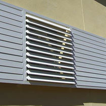 Sliding and stacking shutters / aluminum / window / louvered