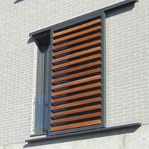 Sliding shutters / wooden / window / louvered