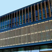Wooden solar shading / for facades