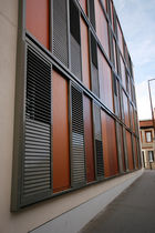 Sliding shutters / aluminum / door / louvered