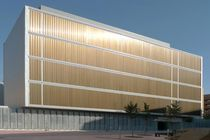 Aluminum solar shading / facade / motorized rotating / vertical